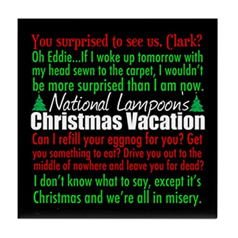 Amazon CafePress Christmas Vacation Quotes Tile Coaster Fascinating Vacation Quotes