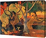 """This 15"""" x 19"""" premium gallery wrapped canvas print of Bathers in Tahiti by Paul Gauguin is meticulously created on artist grade canvas utilizing ultra-precision print technology and fade-resistant archival inks. This magnificent canvas print is gall..."""