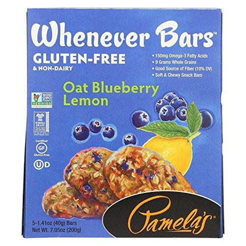 Pamelas Products Oat Blueberry Lemon Bar - 5 per pack - 6 packs per case.