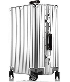 bcec8828e1 LNMLAN アルミニウムマグネシウム合金製スーツケース 機内持ち込みスーツケース トラベルバッグ キャリーバッグ 静音