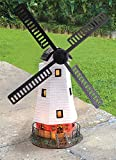 Traditional Solar Powered Windmill Wind Powered LED Garden Ornament