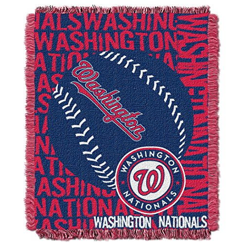 The Northwest Company Officially Licensed MLB Washington Nationals Double Play Jacquard Throw, 48