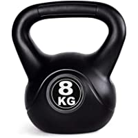 Kettlebells AGYH 8kg Black Fitness Kettlebell, Male And Female Muscle Training, Squat Training Weight Barbell In Home Gym