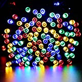 Qedertek Solar Christmas String Lights, 72ft 200 LED Fairy Lights, 8 Modes Ambiance Lighting for Outdoor, Patio, Lawn, Landscape, Garden, Home, Wedding (4 Pack, Multi-color)
