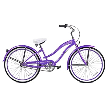 Micargi Rover Nx3 Beach Cruiser Bike Purple 26 Inch