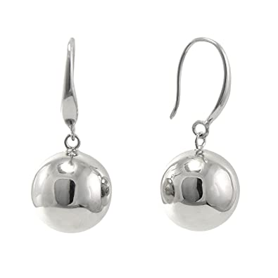 934fcae005761 Paialco 925 Sterling Silver High Polished Round Ball Dangle Earrings