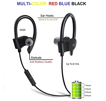 995a369fac9 Sami QC-10 Jogger Sports Bluetooth Headset Wireless 4.1: Amazon.in:  Electronics