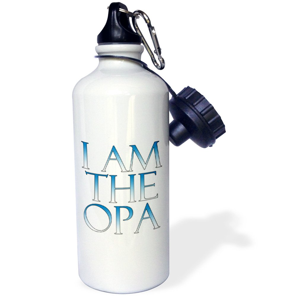 3dRose wb/_193303/_1 I am the opa Blue and White Sports Water Bottle 21oz Multicolored