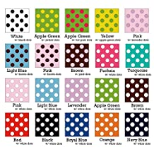 "Swiss Dot Grosgrain Ribbons 7/8"" (Spool of 50 Yards) (Navy Blue w/ White dots)"