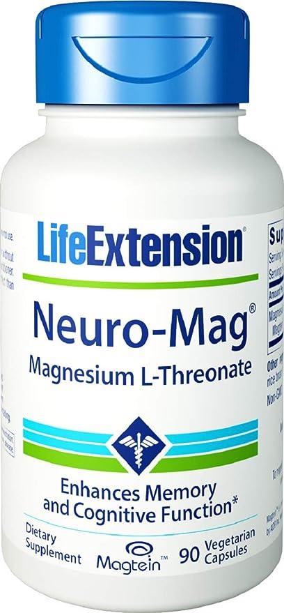 Cápsulas de magnesio L-treonato Life Extension Neuro-Mag (bote de 90 cápsulas
