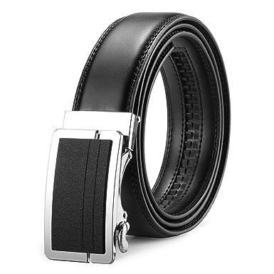 MUCO Ceinture homme en cuir avec boucle automatique ceinture exquise ceinture  chic ceinture mode ceinture Casual a61daadb1c8