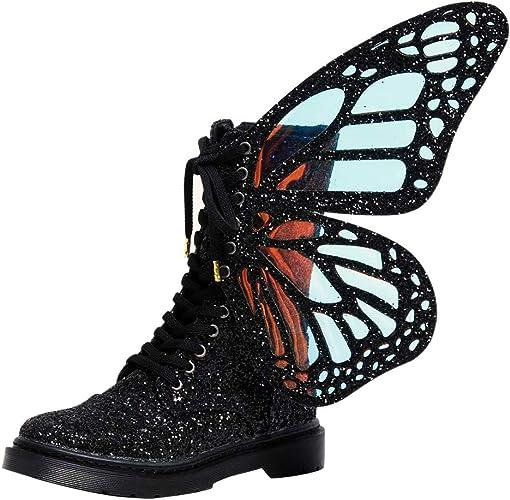 Amazon.com: Botas de tobillo, botas de mariposa para mujer ...