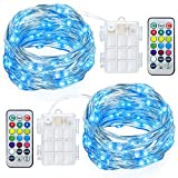 GDEALER 2 Pack Fairy Lights Battery Powered String Lights...