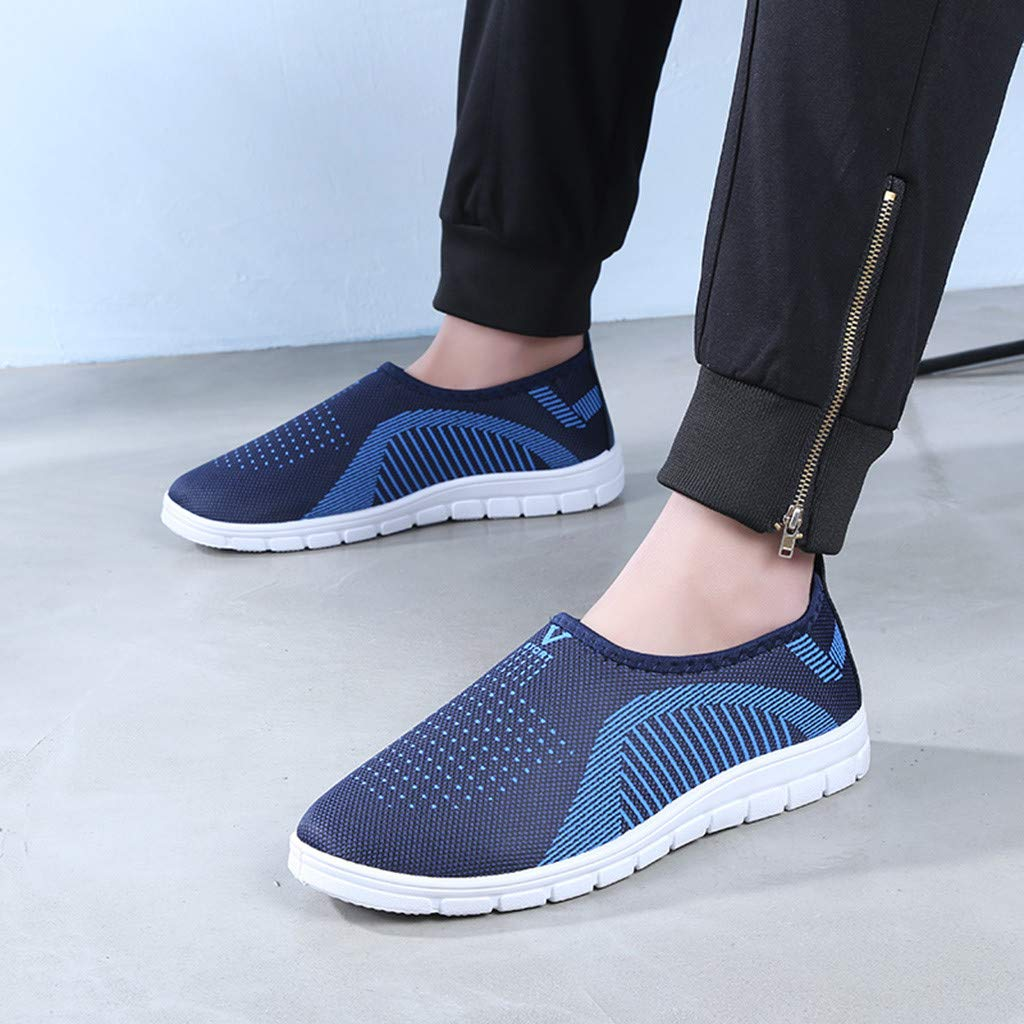 VonVonCo Men's Casual Slip-On Sport Shoes Sneaker Comfortable Footwears Loafers Shoes Blue by VonVonCo (Image #3)