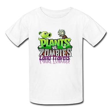 Amazon.com: Kids Cool Plants Vs. Zombies Logo T-shirts Size ...