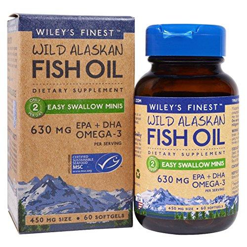WILEYS Finest Mini Fish Oil Softgels 630 MG, 60 CT