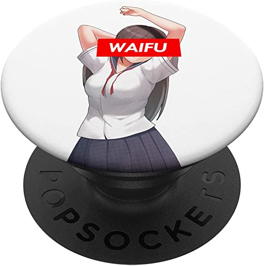 Just A Girl Who Loves Anime And Sketching Kawaii Otaku Japan PopSockets PopGrip Support et Grip pour Smartphone//Tablette avec un Top Interchangeable