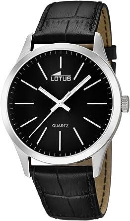 Lotus Reloj Analógico para Hombre de Cuarzo con Correa en Cuero 15961/3: Amazon.es: Relojes
