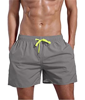 22f49631b7 YnimioAOX Men's Swim Trunks Quick Dry Beach Board Shorts Swimwear ...