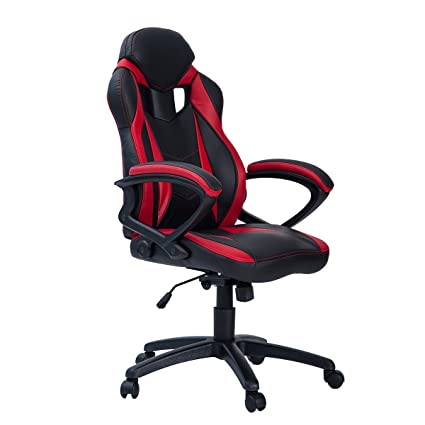 Amazon Com Merax Ergonomic Racing Style Pu Leather Gaming Chair For