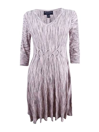 c6b5bc3840 Connected Women s V-Neck Fit   Flare Sweater Dress (M