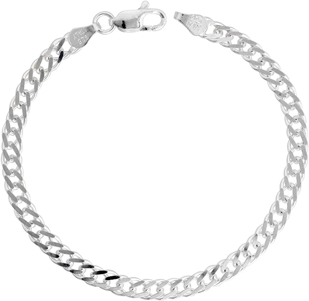 """30/"""" Solid sterling silver rombo 3 mm bracelets chains 7/"""" combined shipping"""