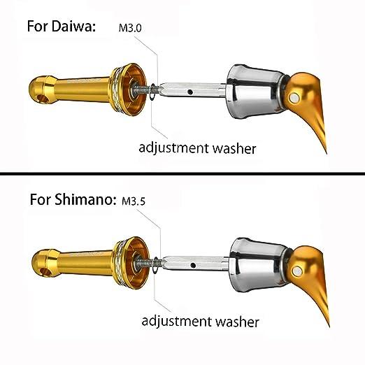 GOMEXUS Soporte de Carrete de Pesca para Daiwa Daiwa Ninja LT , Revros LT ,16 JOIN US ,16 Emeraldas 2508 and Shimano Nasic Sedona Sahara Sienna FE ...