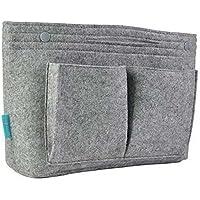 Feutre Sac à main Organiseur, Aolvo Insert Organiseur de sac à main Cosmétique Sac de rangement Sac à main PocketBook Maquillage Sac à nourriture pour femme Filles
