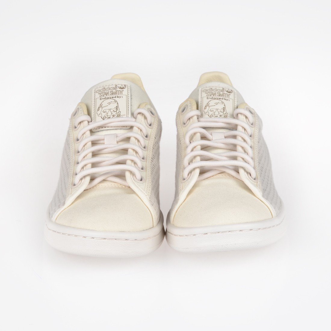 adidas Originals Bianco Stan Smith Textile Trainers, Avorio