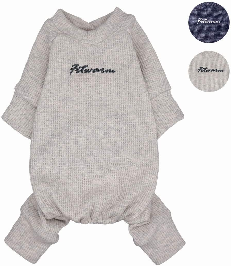 Fitwarm Basics 100/% Cotton Lightweight Waffle Knit V-Neck Pet Clothes Dog Jumpsuits Pajamas Onesies Cat Outfits