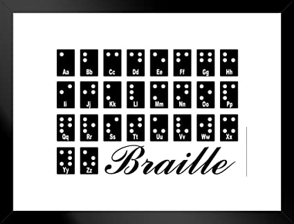 Amazon com: Poster Foundry Braille Tactile Writing System