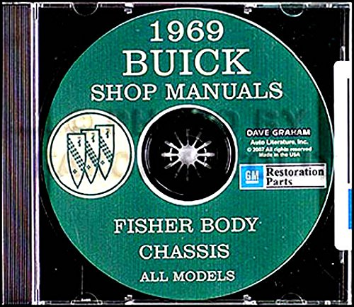 Buick Electra Engine - STEP-BY-STEP 1969 BUICK REPAIR SHOP & SERVICE MANUAL & FISHER BODY MANUAL CD - Special Deluxe, G.S. 350, Skylark & Custom, Sportwagon, G.S. 400, LeSabre & Custom, Wildcat & Custom, Electra 225 & Custom, Riviera