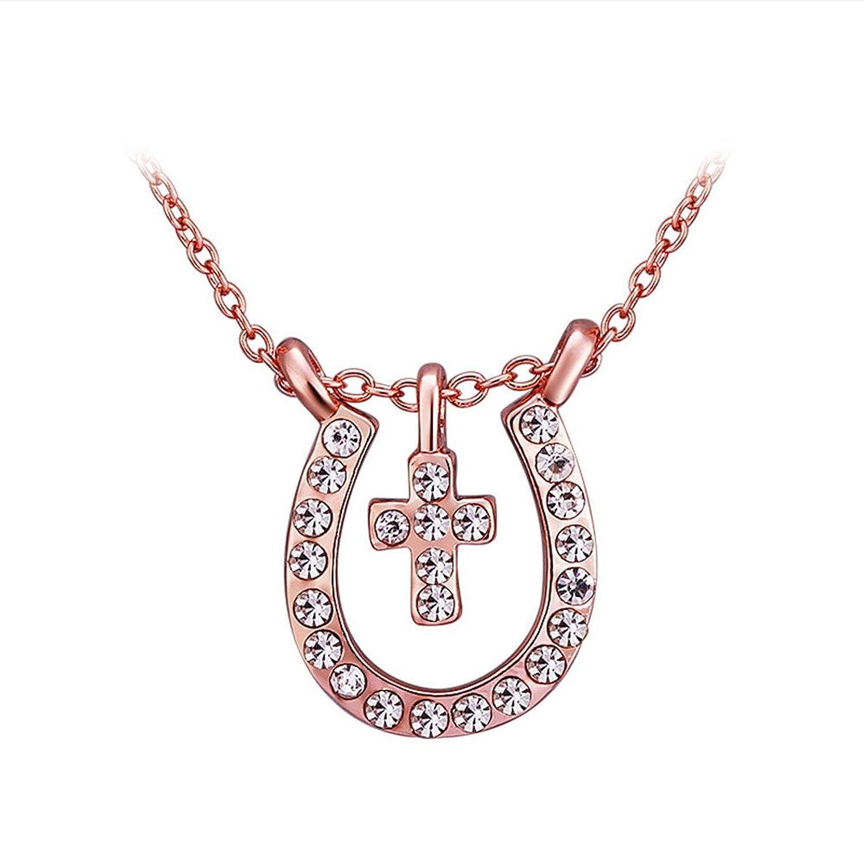 Goldkette damen kreuz  Styleziel Damen Halskette Rot Gold Goldkette mit kleinen ...