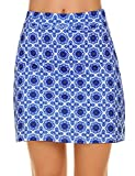 Ekouaer Women Double Layer Skorts with Underneath