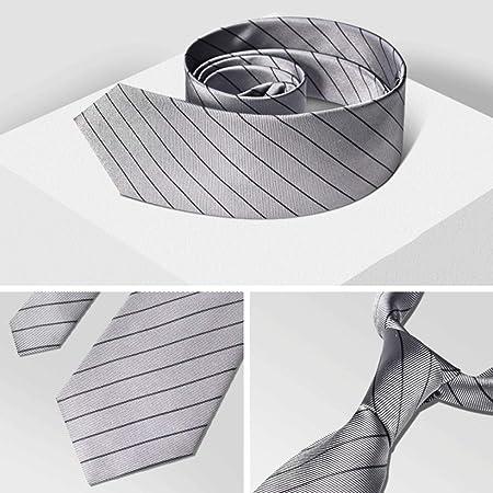 YXN Corbatas de Seda para Hombres/Raya clásica/Forro de poliéster ...