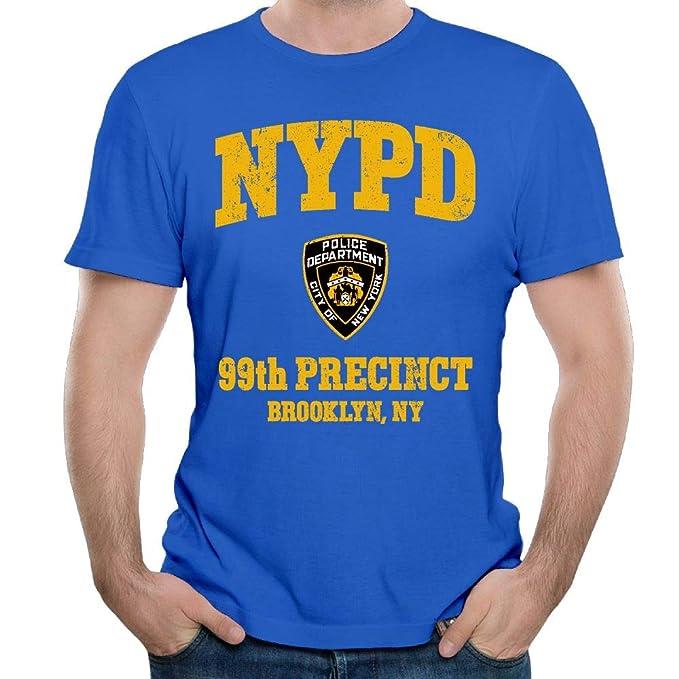 0f842af94 Amazon.com: Stacy J. Payne Men's 99th Precinct - Brooklyn NY Casual Style  Outdoor RoyalBlue T Shirt Short Sleeve: Clothing
