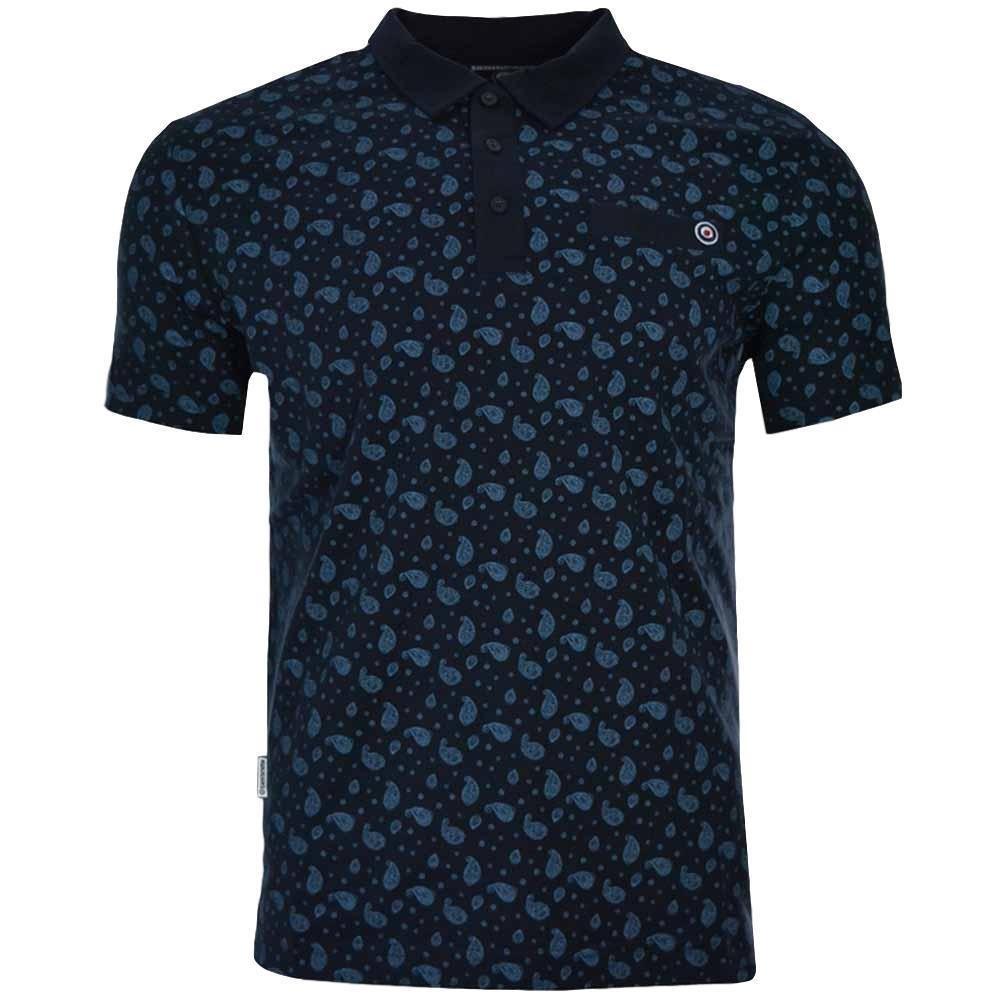 1960s – 70s Mens Shirts- Disco Shirts, Hippie Shirts Lambretta Mens Smart Casual Retro All Over Print Paisley Mod SKA Polo Shirt £17.99 AT vintagedancer.com