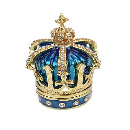 decoraci/ón del hogar QIFU Joyero de Estilo Vintage Pintado a Mano con Esmalte Rico y Brillantes Diamantes de imitaci/ón