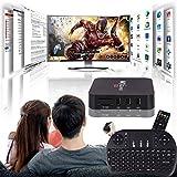Cewaal TV Box, (US Plug)HD 1080P 4K WiFi S905W Quad Core Android 7.1 1+8GB Smart TV Box with I8 Keyboard