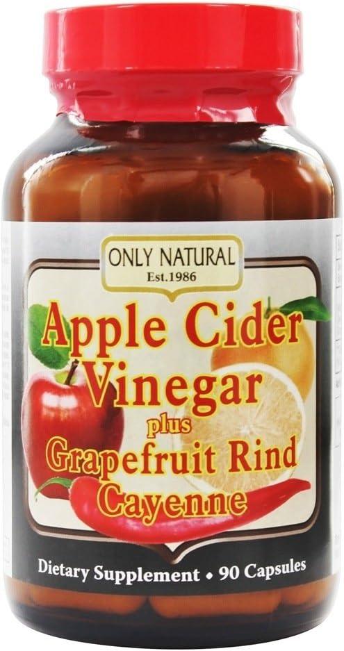 Only Natural Apple Cider Vinegar Plus 90 Capsules