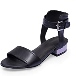 1158782d1301c MEIREN Thick belt buckle leather sandal fashion fish mouth shoes