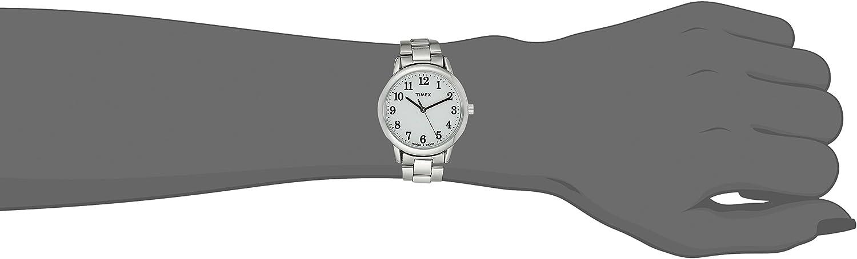 Timex Women's Easy Reader Stainless Steel Bracelet Watch Silver-Tone/White