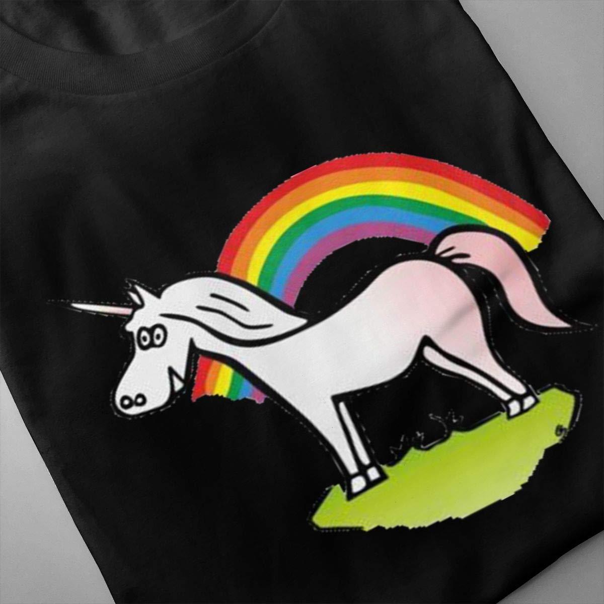 Marsherun Mens Unicorn Rainbow Slim Short Sleeve Shirts