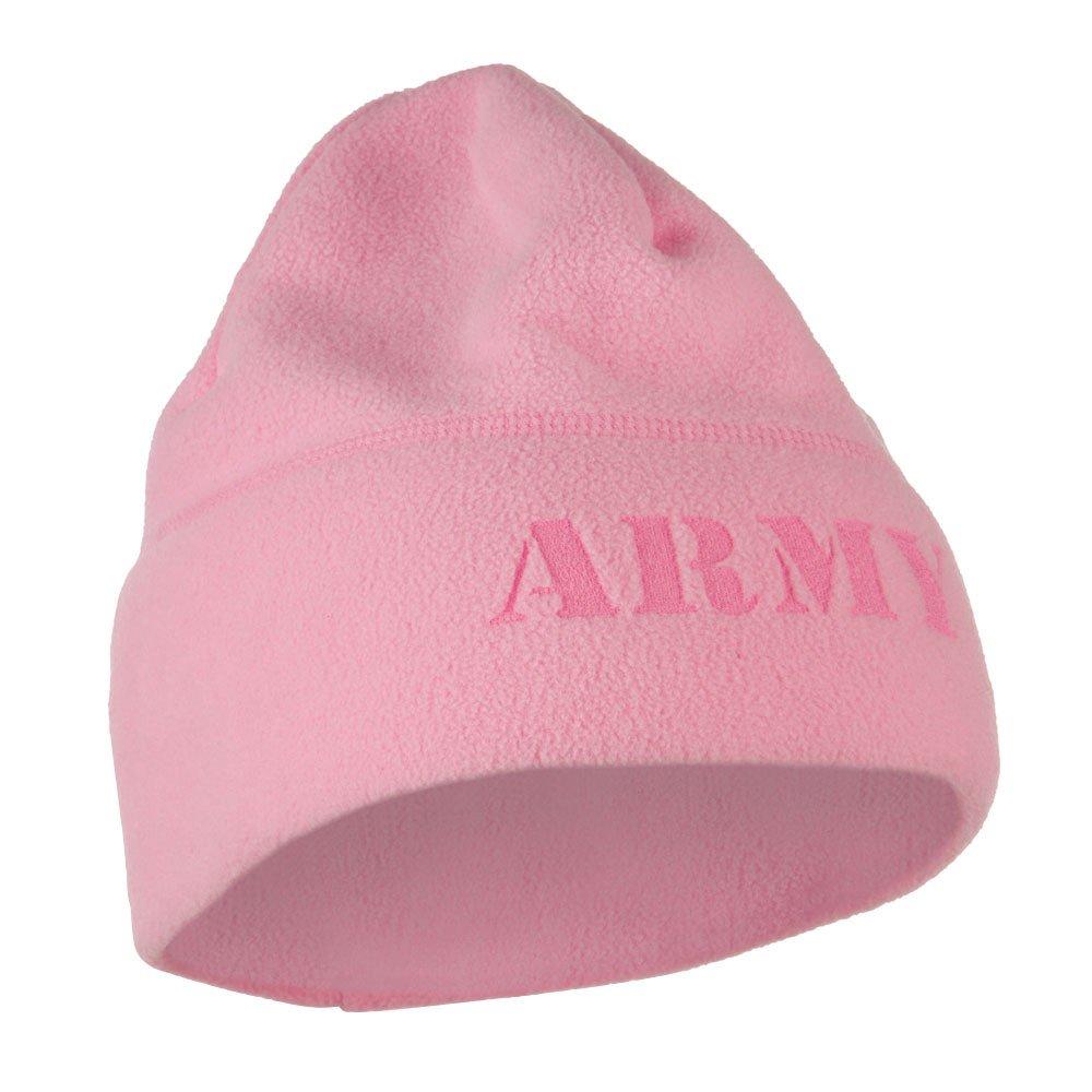 1cb179a1ba2 Amazon.com  Eagle Crest Laser Fleece US Military Short Beanie - Army Pink  OSFM  Clothing