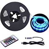 USB LED Strip Light 6.56ft/2M 5050 IP65 Waterproof RGB TV Backlight Kit Multi-color LED Tape with Remote Controller for TV/PC/Laptop Background Lighting