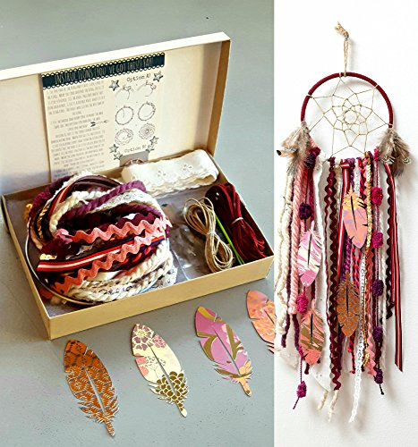 DIY Dream catcher Kit Red Make Your Own Craft Project Girls Birthday Gifts from The House Phoenix