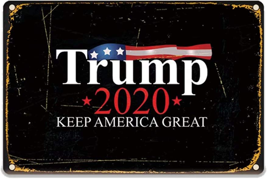 Poeni Trump 2020 Keep America Great Yard Sign Wall Decor Metal Signs Lawn Sign Home Door Decor