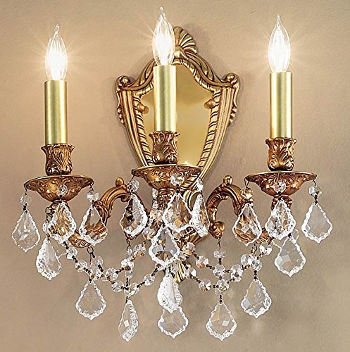 Chateau Imperial Crystal Wall Sconce (Aged Bronze - Strass Golden Teak)