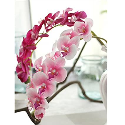 Amazon.com: Outtop 28.34 Inch Orchid Artificial Flowers Bouquets ...