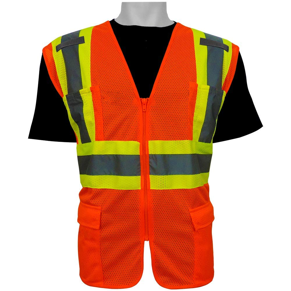 FrogWear Lightweight Mesh Class 2 Surveyor Vest 2X-Large Global Glove /& Safety Manufacturing GLO-0045-2XL GLO-0045